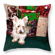 Guarding Christmas Throw Pillow