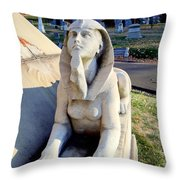Guarding The Pyramid Throw Pillow