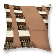 Guardrails And Stripes Throw Pillow