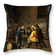 Guardroom With The Deliverance Of Saint Peter Throw Pillow