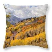 Guardsman Pass Aspen - Big Cottonwood Canyon - Utah Throw Pillow