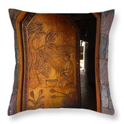 Guatemala Door 1 Throw Pillow