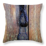 Guatemala Door Decor 4 Throw Pillow