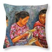 Guatemala Impression IIi Throw Pillow