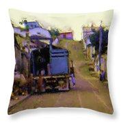 Guatemalan Street Truck Throw Pillow