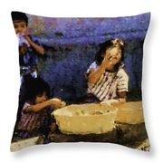 Guatemalan Children Throw Pillow