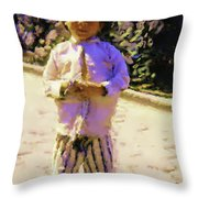 Guatemalan Little Boy Throw Pillow