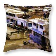 Guatemalan Roof Top Scene Throw Pillow
