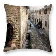 Gubbio Through The Window Throw Pillow