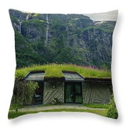 Gudvangen Norway Style Sunroof Throw Pillow