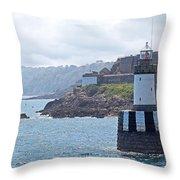 Guernsey Lighthouse Throw Pillow