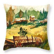 Guess We'll Settle Here IIi Throw Pillow