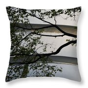 Guggenheim And Trees Throw Pillow