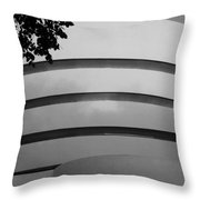 Guggenheim In The Round In Black And White Throw Pillow