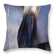 Guggenheim Museum Exterior Throw Pillow