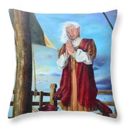 Guided By Divine Power Throw Pillow