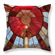 Guiding Red Throw Pillow