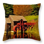 Guildhall Grist Mill Throw Pillow