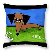 Guilty Throw Pillow