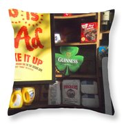 Guiness In The Window Throw Pillow