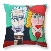Guinness Man With The Woman Of His Dreams Throw Pillow