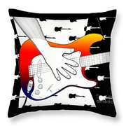 Guitar 1 Throw Pillow