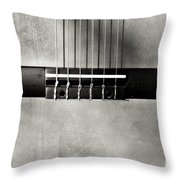 Guitar Abstract In Monochrome Throw Pillow