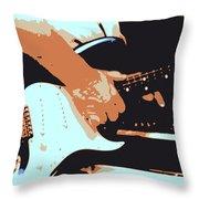 Guitar And Man Throw Pillow