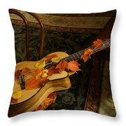 Guitar Autumn 1 Throw Pillow