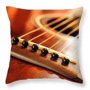 Guitar Bridge Throw Pillow