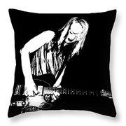Fender Guitar Girl  Throw Pillow