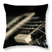Guitar Glance Throw Pillow