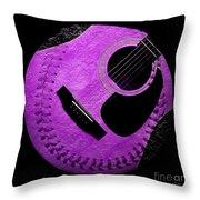 Guitar Grape Baseball Square Throw Pillow