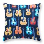 Guitar Heaven Throw Pillow