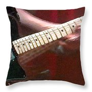 Guitar In Action Throw Pillow