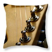 Guitar In Color Throw Pillow