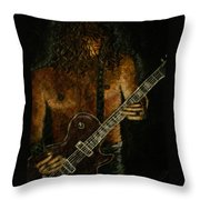 Guitar In The Zone Throw Pillow