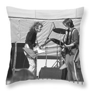 Guitar Interplay At The Day On The Green 6-6-76 Throw Pillow
