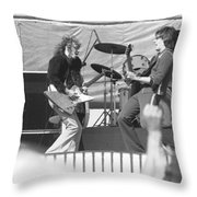 Guitar Jam At Day On The Green In Oakland 1976 Throw Pillow