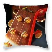 Guitar Keys In Light Throw Pillow