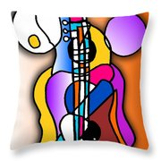 Guitar Love Throw Pillow