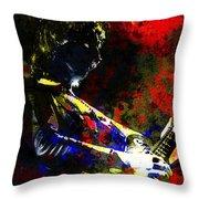 Guitar Man Throw Pillow