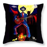Guitar Man Upstairs Throw Pillow
