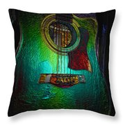 Guitar Metalica Throw Pillow