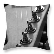 Black And White Guitar Throw Pillow