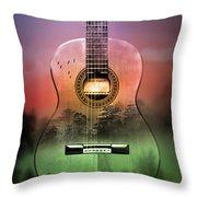 Guitar Nature  Throw Pillow