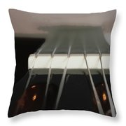 Guitar Neck Fading Out Throw Pillow