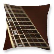 Guitar Neck Throw Pillow