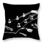 Guitar Ventura Head Stock 1 Throw Pillow