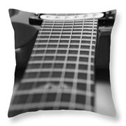 Guitar View Throw Pillow